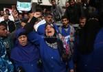 اعتصام عمال النظافة في مستشفيات قطاع غزة