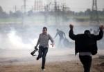 الاحتلال يتعمد استهداف الصحفيين اثناء تغطيتهم لمسيرة العودة