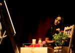 جانب من عرض مسرحية كاردل في المسرح البلدي دار بلدية رام الله