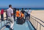 استراحة مائمة لذوي وذوات الإعاقة على شاطىء بحر غزة