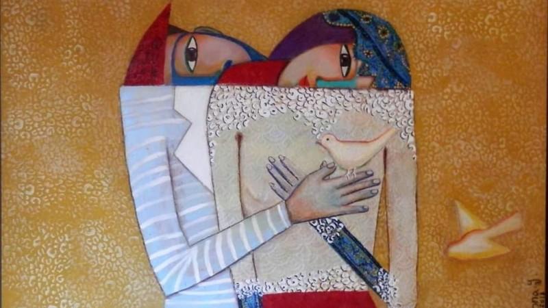 لوحة للفنانه لبنى ياسين