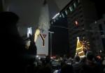 إضاءة شجرة عيد الميلاد بغزة