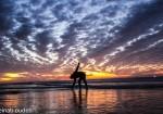 أجواء المنخفض على شاطىء بحر غزة