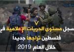 واقع الحريات الإعلامية في فلسطين في 2019