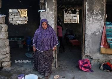 جانب من معاناة المرأة في قطاع غزة