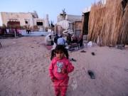 طفلة من عائلة فلسطينية هدم الاحتلال منزلها