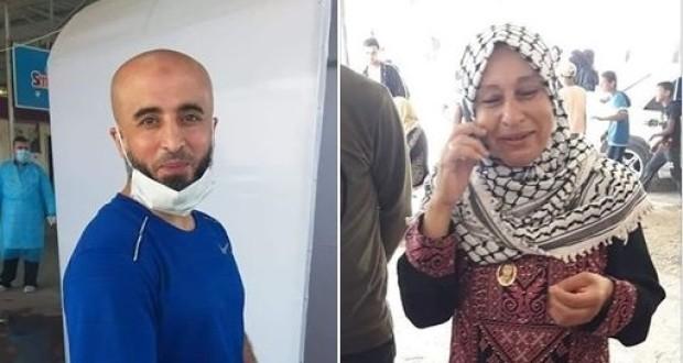 الأسير المحرر رامي عنبر ووالدته
