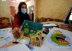 """هجومٌ بالألوان على العدو """"كورونا"""" في غزة"""