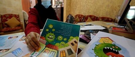 رسومات تحاكي ألعاب الأطفال للتوعية بـكورونا